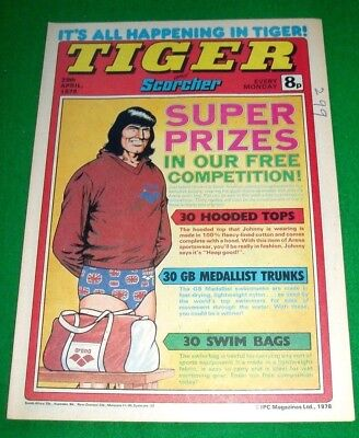Tiger Comic With Middlesbrough F.c. Super Colour Centrefold Poster  29/4/1978
