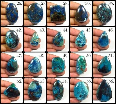 Blue Azurite Cabochon Oval, Pear Loose Rarest! Natural Gemstone For Jewelry Az-B