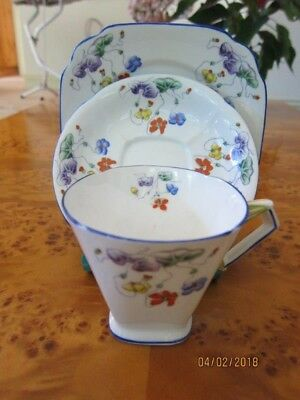 Royal Standard Trio (Cup, Saucer & Plate).  Art Deco