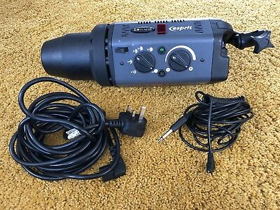 Bowens Esprit 500 HEAD with power cable and flash sync lead