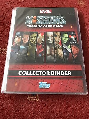 Topps Marvel Missions Binder + Complete Full Set Of Cards +  4 Limited Editions