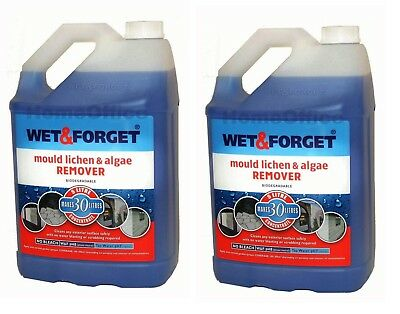 2 x 5L WET AND FORGET MOULD, ALGAE AND LICHEN REMOVAL - FREE P&P