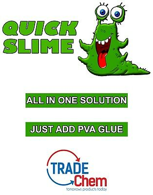 QUICK SLIME All In One Solution, Activator, Just Add PVA, 250ml, Hassle Free