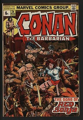 CONAN THE BARBARIAN #24 1st RED SONJA BARRY SMITH ART A CLASSIC! GREAT VALUE !