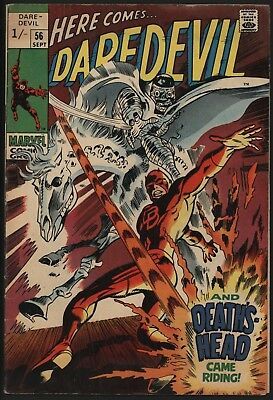 Daredevil #56 Vs Death's Head Great Cover Great Value Copy From Sep 1969