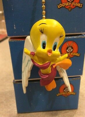 Lot of 3 Looney Tunes Tweety Fan Pulls and Chain NEW