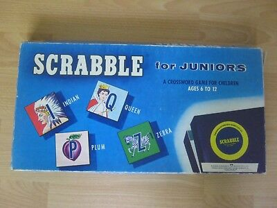 Scrabble For Juniors Game - Made In 1965