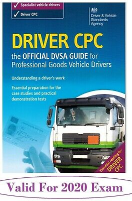Official DVSA CPC Guide for Professional Goods Vehicle Drivers Book cpc