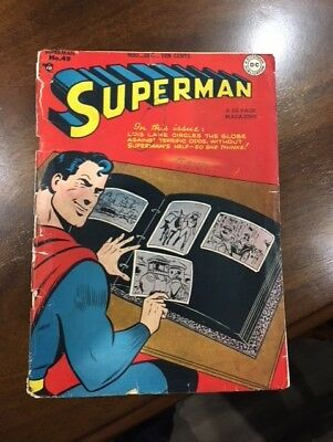Superman #49... Golden Age...cover Only... 1940S..see Pictures...