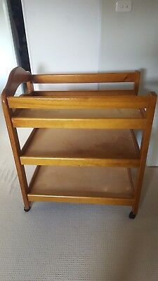 Used Wooden Cot and change table - good condition