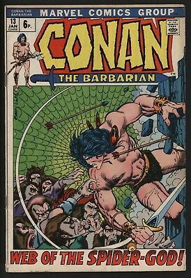 Conan The Barbarian #13  Classic Barry Smith Art From 1972 Great Value Copy