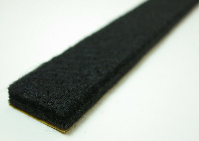 Felt Strip 40mm Wide, 6mm Thick Since 1M - Band Black - Strong SELF ADHESIVE