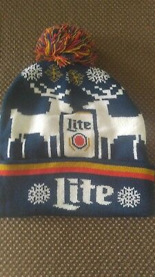 Brand new Ugly Miller Lite Winter Ski/Christmas Cap