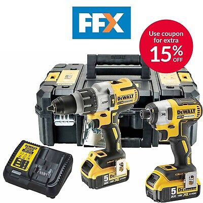 DeWalt DCK276P2 18v 2 x 5.0Ah Li-Ion Brushless Twin Pack