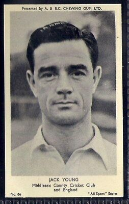 A&bc-All Sports (M120)-#086- Cricket - Middlesex - Jack Young