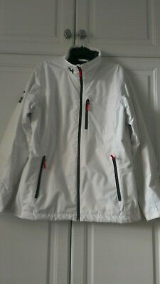 HELLY HANSEN white weather jacket size XL