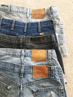 Vintage Wholesale Lot Levis 550 Cutoffs Lee Jean Shorts Rustler Patches Denim!
