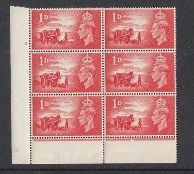 1948 Block Mint - 1d x 6 - Channel Islands Liberation