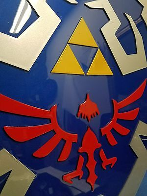 The Legend of Zelda shield custom made custom painted made out of sheet metal