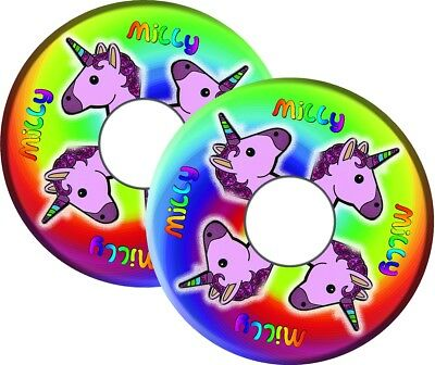Wheelchair Spoke Guards Graphics Stickers Decals UNICORN RAINBOW Personalised