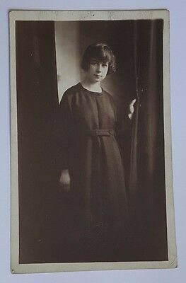 Victorian Era Real Photo Postcard Of Girl Early 1900's Rppc Pray For Your Sister