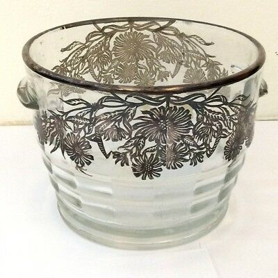Sterling Silver Overlay Ice Bucket
