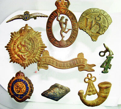 An interesting set of detector finds including miltary badges