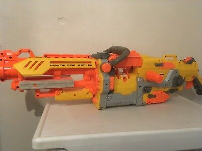 Nerf N-Strike Havoc Fire 25 Gun Only.For Parts/Not Working
