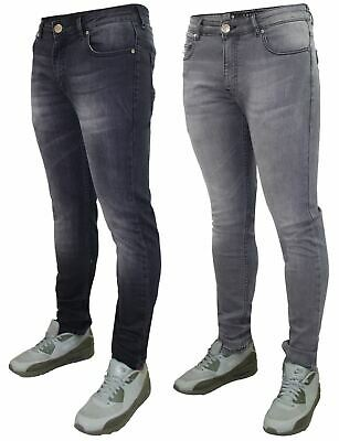 Mens Crosshatch Brand Designer Jeans Stretch Denim New Slim Fit 5 Pocket Jeans