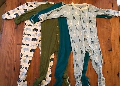 Lot of 4 KicKee Pants footies good - excellent cond. 18-24 months