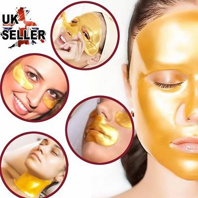 Gold Collagen Bio Crystal Mask for Face Facial Eye Neck & Lip Anti Ageing Masks