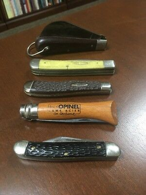 Vintage Pocket Knife Lot Case Xx Stag Ireland Opinel France And Others