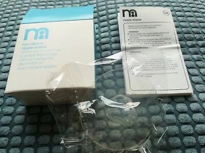 Silicone Nipple Shields Baby Breastfeeding Mothercare (2 pack) New Unused