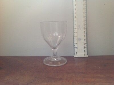 Georgian rummer/ wine glass.  9cms high.