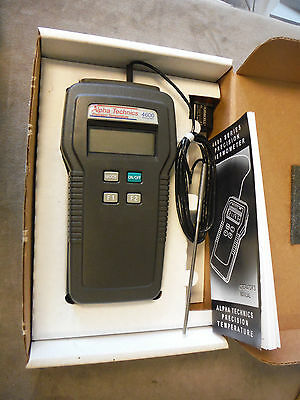 Alpha Technics Precision Temperature 4500 Thermometer - w/ Probe