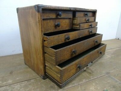 Vintage Engineer Bank Of Drawers Cabinet Old Draws Industrial
