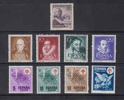 Spain Year 1950 Mnh New Free Stamp Hinges - Edifil 1070/87 (Sin 1075/1083B)