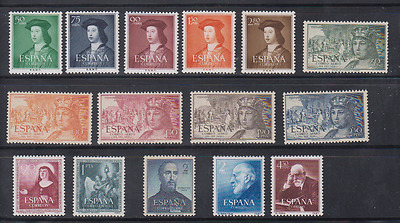 Spain Year 1952 Mnh New Free Stamp Hinges Spain - Edifil 1106/20