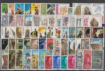 Year 1974 Spain - Complete New Free Stamp Hinges Mnh - Edifil 2167-2231