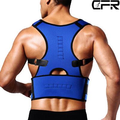 US Magnetic Posture Corrector Back Brace Lumbar Support Belt Therapy Scoliosis