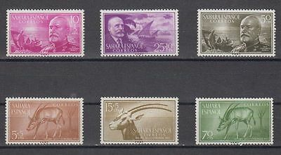 Sahara (Spain) - Year 1955 New Free Stamp Hinges Complete Mnh - Edifil 120/25