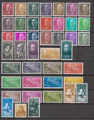 Spain Year 1955 Mnh New Free Stamp Hinges Spain - Edifil (1143/84) Complete