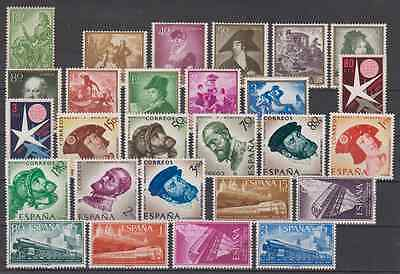 Spain Year 1958 New Mnh - Edifil (1209 - 1237)Without Fijasellos Without Leaves