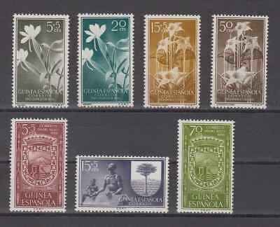 Guinea (Spain) - Year 1956 New Complete Mnh Spain - Edifil 358/64