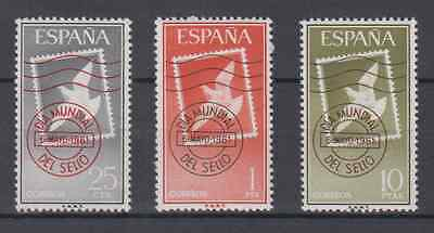 Spain (1961) New Free Stamp Hinges Mnh Spain - Edifil 1348/50 Day Of The Stamp