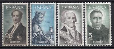 Spain (1965) Series New Free Stamp Hinges Mnh Spain -Scot 1653/56 Characters