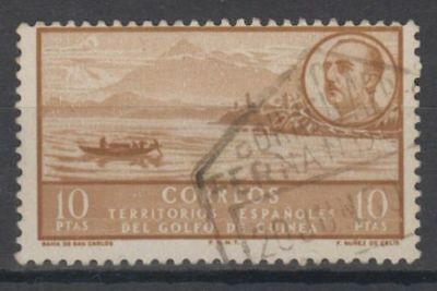 GUINEA (1949) USED SPAIN - EDIFIL 292 (10 pts) FRANCO