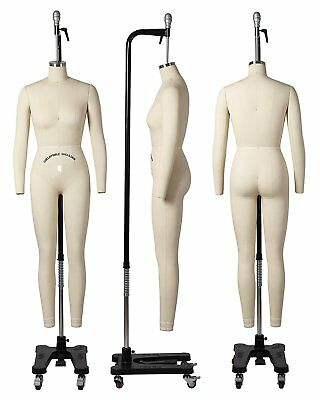 Professional Female Full Body Mannequin Dress Form, W/Arms Size 10 (wfcs 10+2)