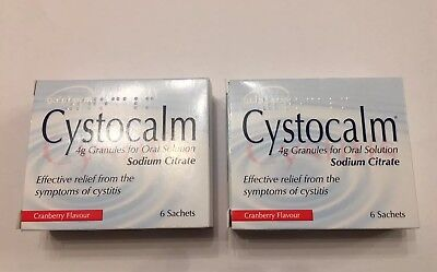 Cystocalm Cystitis Relief - 2 Pack 12 Sachets.