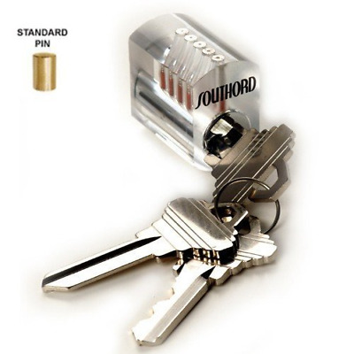 SouthOrd Visible Cutaway Lock with Standard Pins ST-34